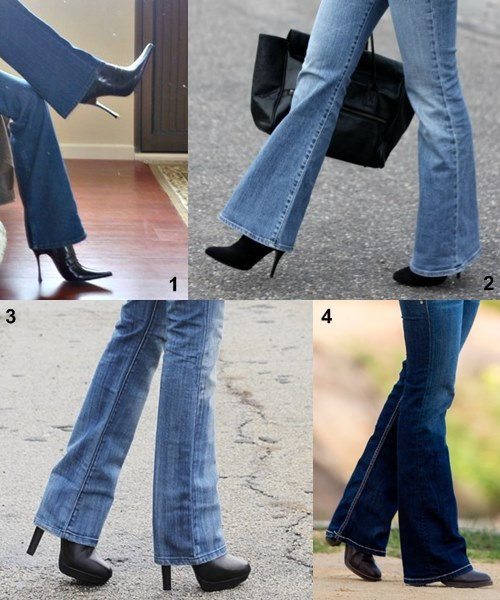 Flared Jeans with Boots