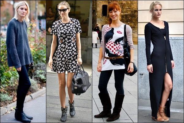 Flat Boots Fashion Look
