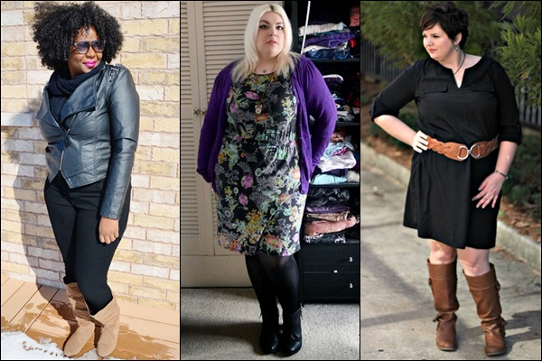 Flat Boots Fashion Look for Plus Size Women