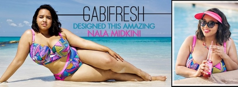 GabiFresh for Swimsuits For All Plus Size Swimwear 2014 Collection
