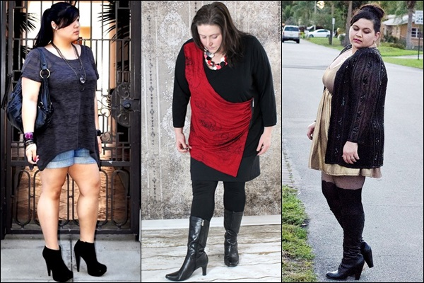 Heeled Boots Fashion Look for Plus Size Women