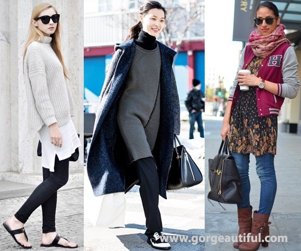 Dress Over Pants Fashion Street Style with Layers