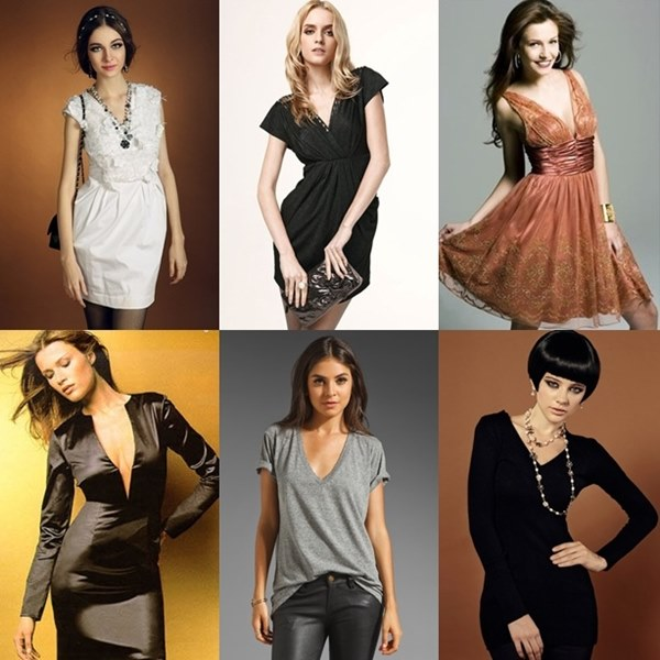 deep v neck dresses