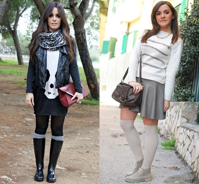 Knee Socks Style Ideas for Petite Figure