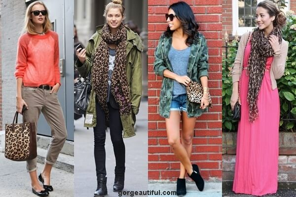 Leopard Printed Scarf and Bag Style Ideas