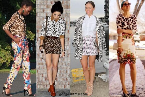 Leopard Print Mixing Fashion Street Style