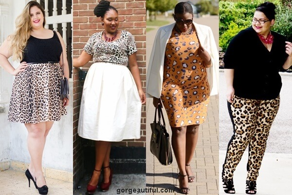 Plus Size Leopard Print Fashion Look with Black or White