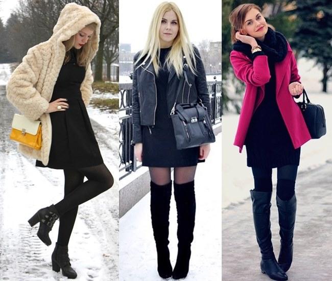 Little Black Dress for Winter