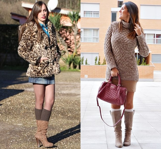 Style Ideas Knee Socks with Layer Underneath and with Boots
