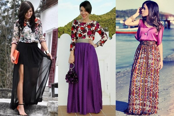Maxi Skirt Street Fashion at Formal Occasion