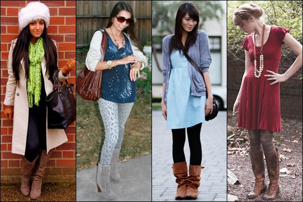 dress with mid calf boots