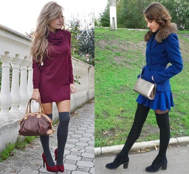 Knee Socks Office Wear Fashion Ideas