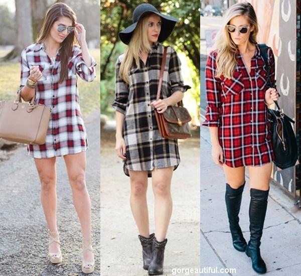 Grab an Oversized Plaid Shirt to Create a Chic Shirt Dress Look