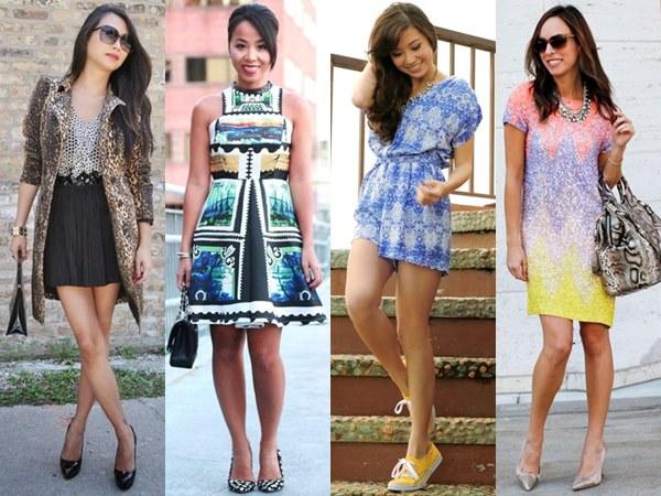 dresses for petite women - prints in natural or pastel colors