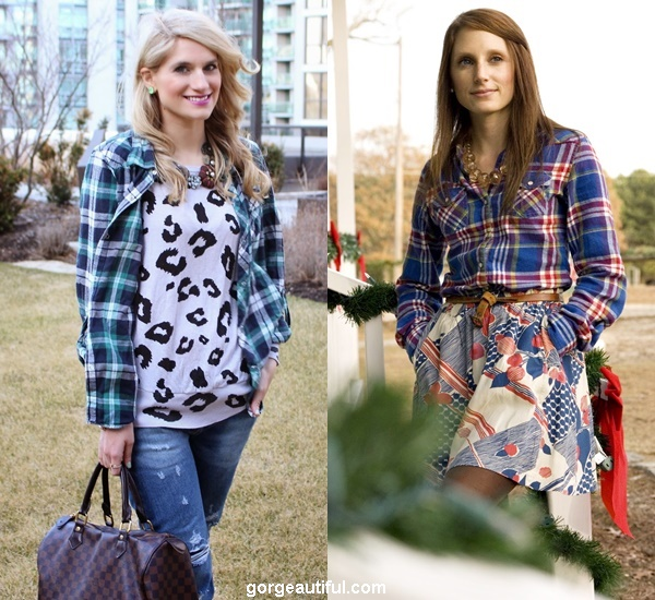 Go for Print Mixing with Plaid Prints for A Chic Trendy Style