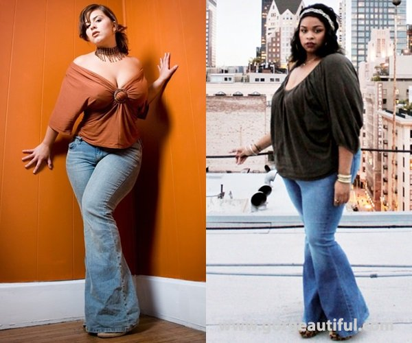 Plus Size Bell-bottom Jeans Inspiration