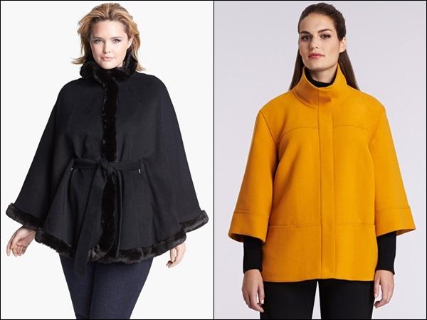 Plus Size Coats for Apple Shape and Rectangle Shape Figure