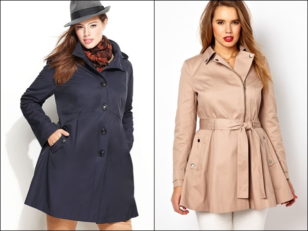 Plus Size Coats for Pear Shape and Round Shape Figure