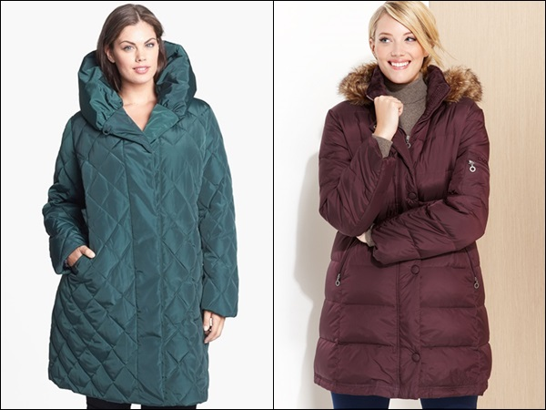 Plus Size Coats made of Down