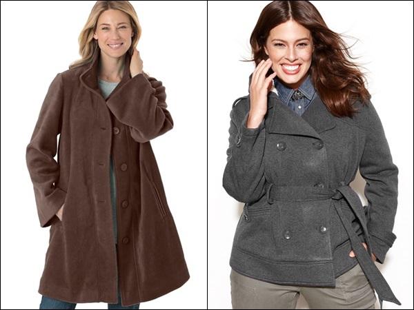 Plus Size Coats made of Fleece