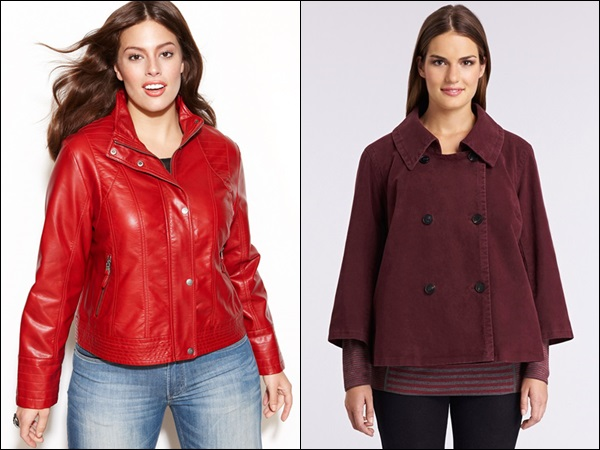 Plus Size Coats made of Leather and Suede