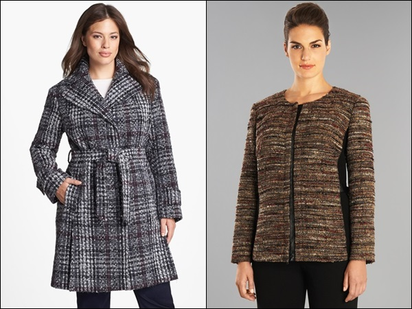 Plus Size Coats made of Tweed