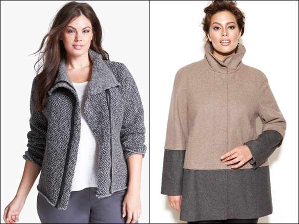 Plus Size Coats made of Wool