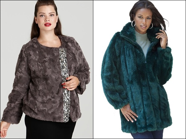Plus Size Coats made of Fur