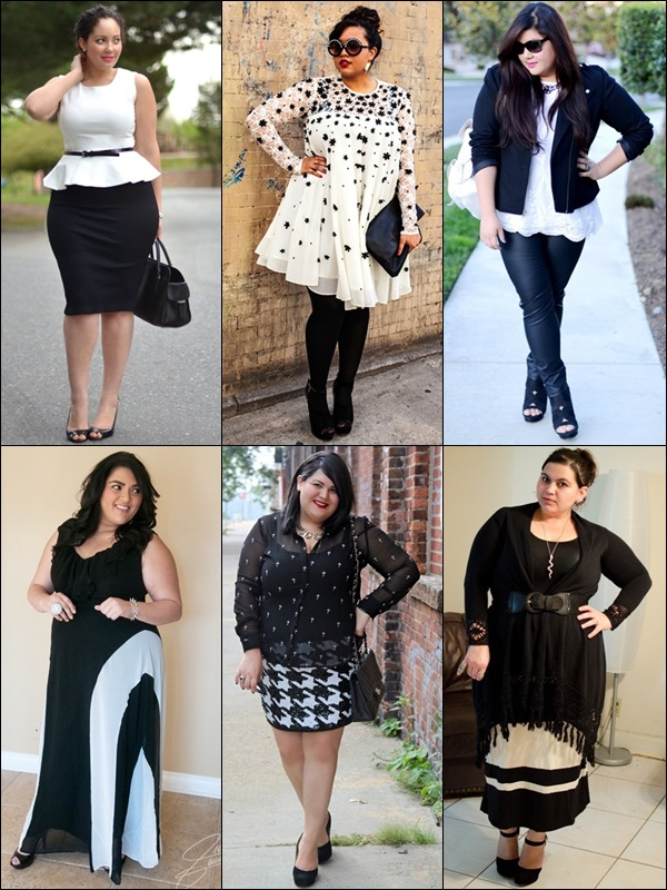 Black and White Fashion Look for Plus Size Women