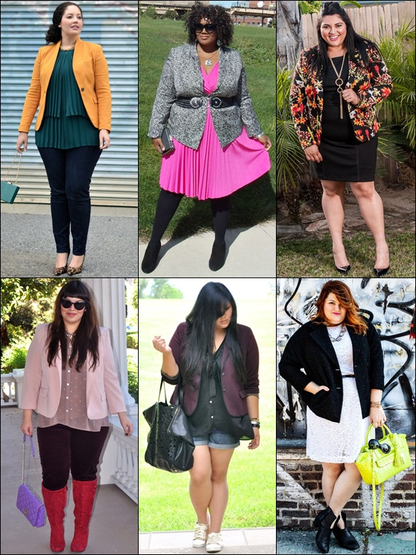 Blazers Fashion Look for Plus Size Women
