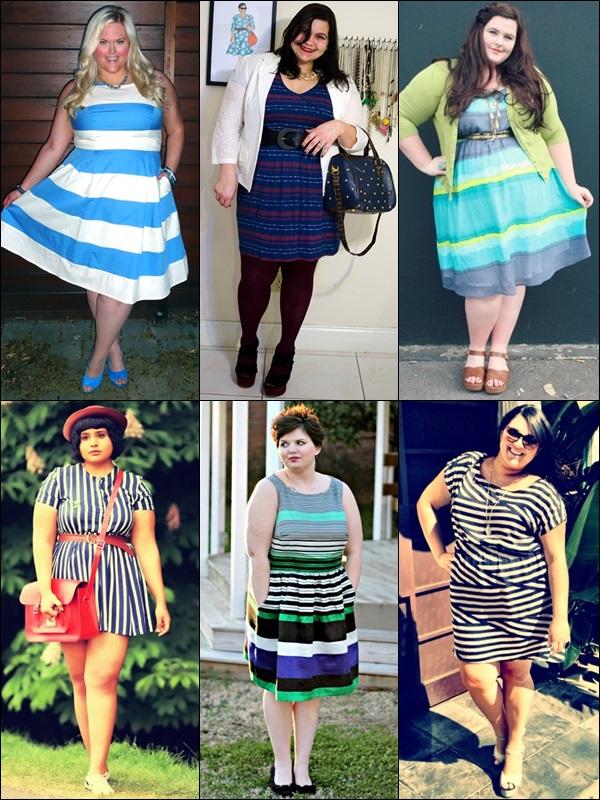 Stripe Patterns Plus Size