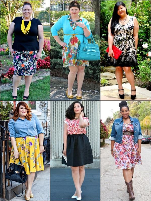 flower Prints Fashion Look for Plus Size Women