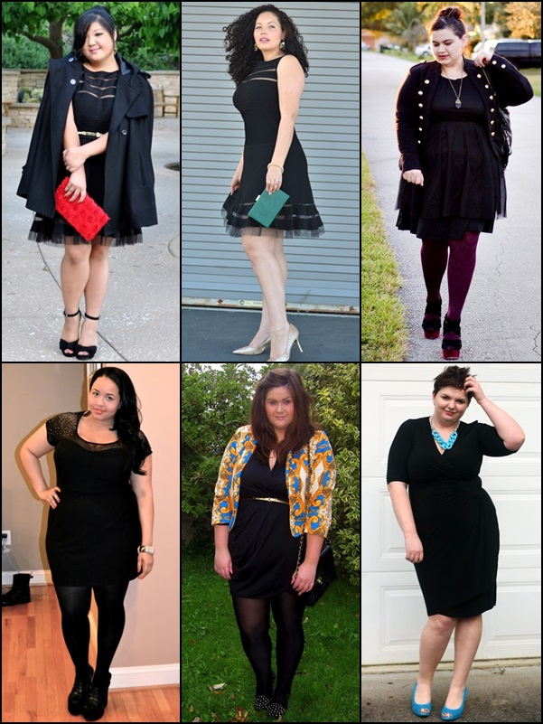Little Black Dress Fashion Look for Plus Size Women