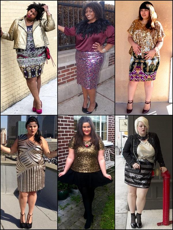 Metallic Fashion Look for Plus Size Women