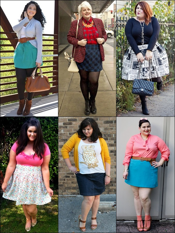 Mini skirts Fashion Look for Plus Size Women