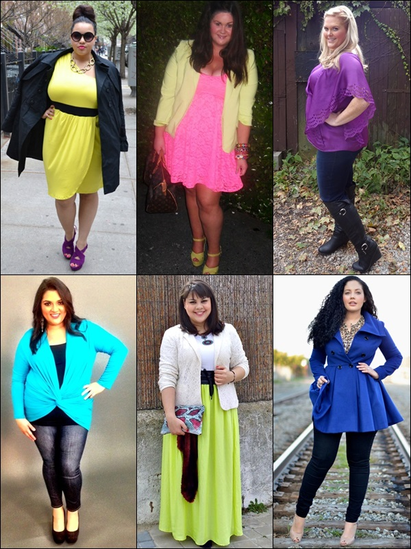 plus size bloggers neon clothing