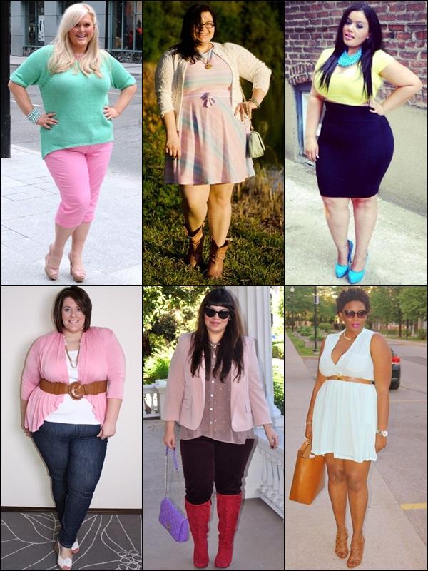 plus size bloggers pastel clothing