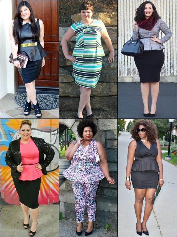 Peplum Dress Fashion Look Plus Size Bloggers