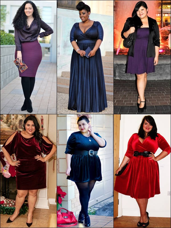 Satin or Velvet Fashion Look for Plus Size Women
