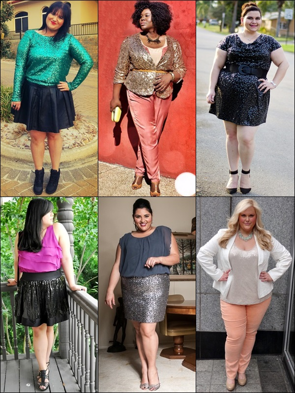 Sequined Outfits Fashion Look for Plus Size Wome