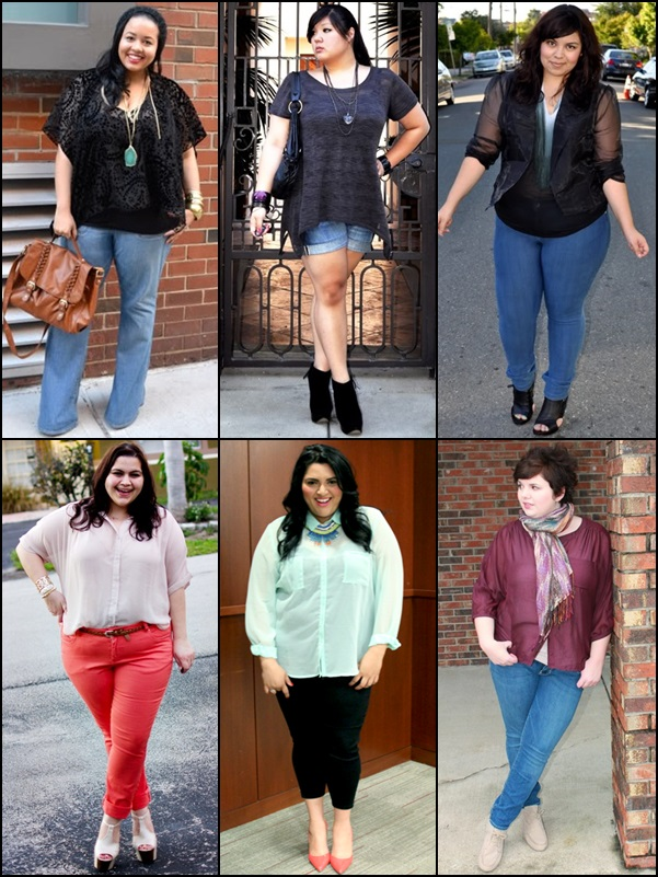 Sheer Tops Fashion Look for Plus Size Women