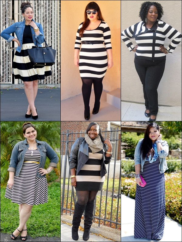 Stripe Patterns Fashion Look Plus Size Bloggers
