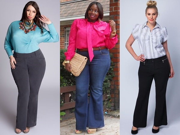 Plus Size Pants with a Tucked In Shirt