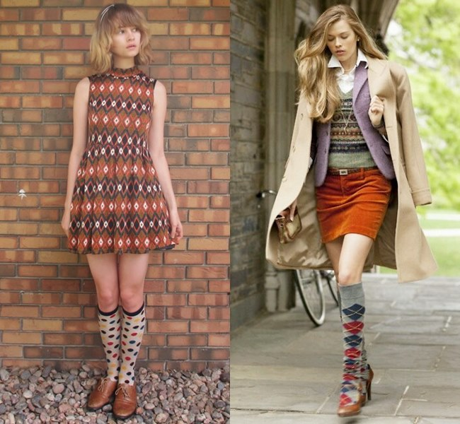 Printed Long Socks Style Ideas