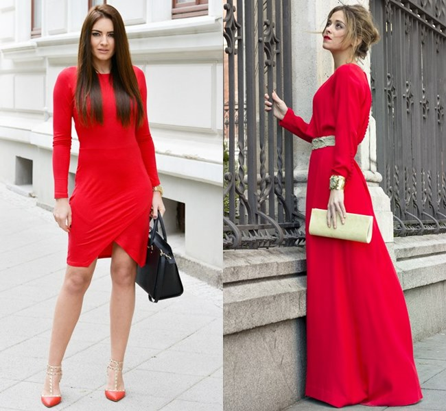 Wedding Dress Ideas in Vibrant Scarlet Red