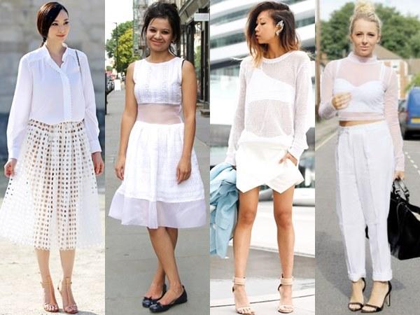 Sheer White on White Fashion Looks