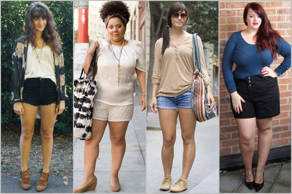 "high-waisted shorts to avoid a ""muffin top"""