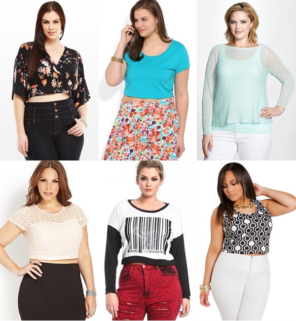 Spring Summer 2014 Crop Top Plus Size Fashion Trends