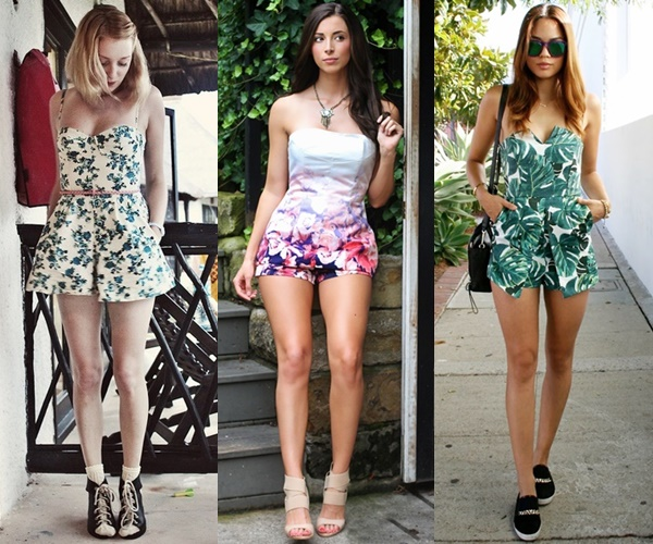 Strapless Romper or Playsuit for a Summer Casual Elegance