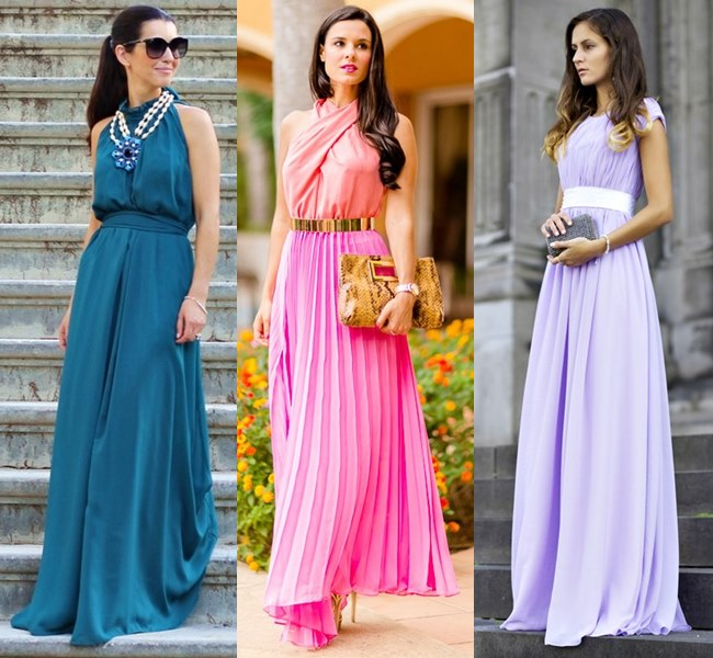 Wedding Guest Pleated Maxi Dress Ideas